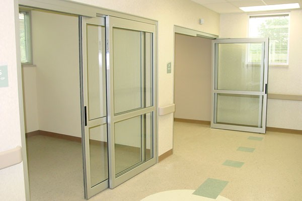 Manual ICU Sliding Doors at a Medical Facility